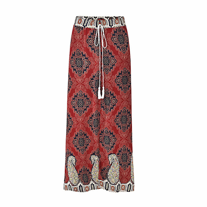Red Flow Maxi Skirt