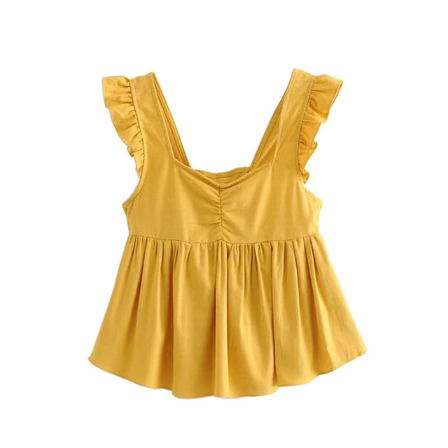 Yellow Ruffles T
