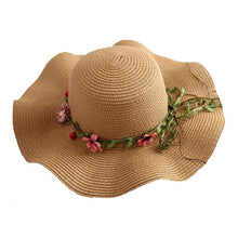 Load image into Gallery viewer, Flower Straw Hat