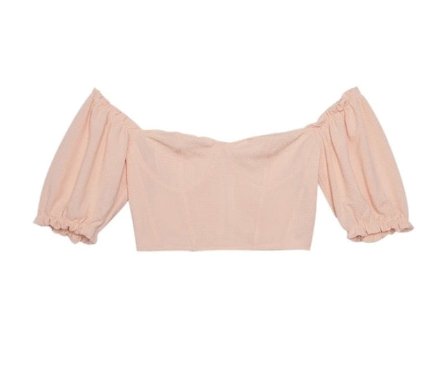 Off-the-shoulder T