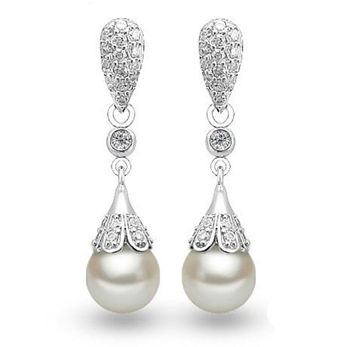 White Gold Drop Earring