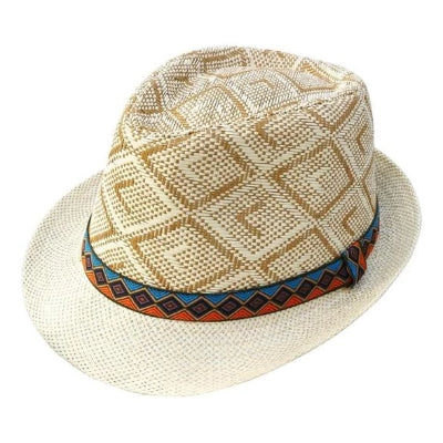 Tan Checkered Hat