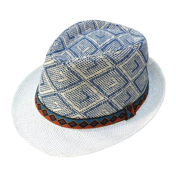 Blue Checkered Hat