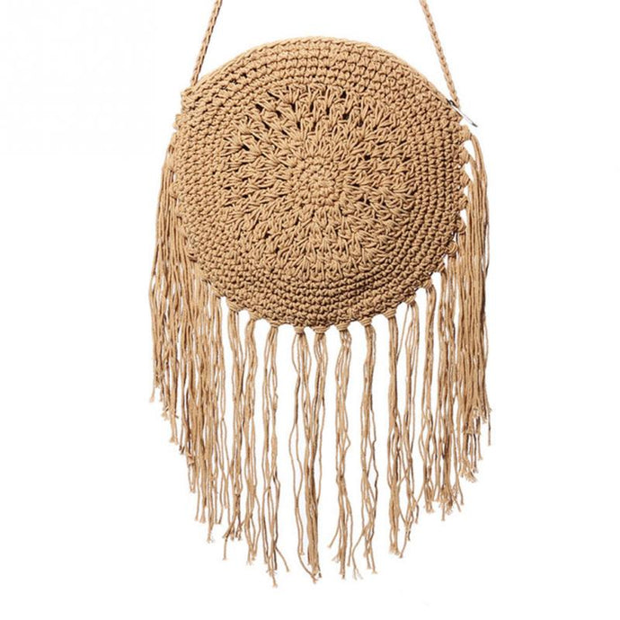 Round Handmade Straw Bag