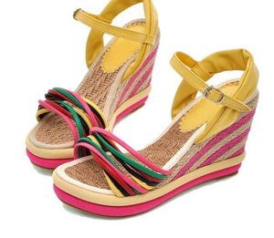 Straw Braided Wedge