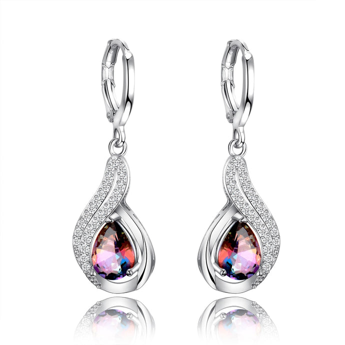 Water Drop Silver Earring