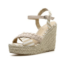Load image into Gallery viewer, Weave Wedge Sandal