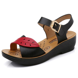 Leaf Wedge Sandal