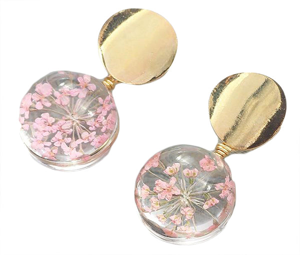 Flower Ball Earrings