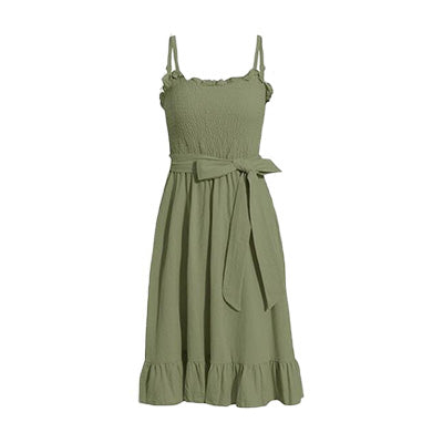 Army Green Midi Dress