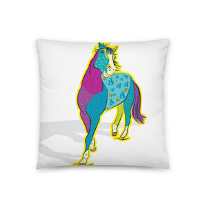 """Cobo"" the Horse Pillow 18"" x18"""
