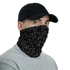 Horseshoe Face Mask in black
