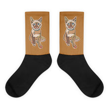 Load image into Gallery viewer, Hanna Kitty Socks, Natural colors