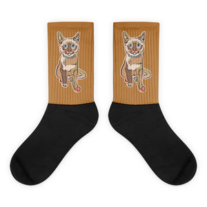 Hanna Kitty Socks, Natural colors