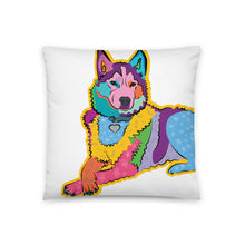 Load image into Gallery viewer, Bella Husky Dog Pillow