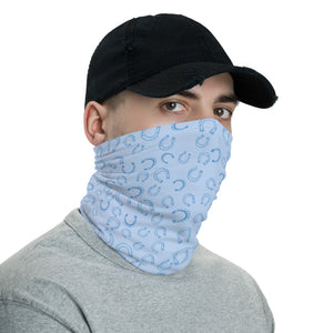Horseshoe Face Mask in blue