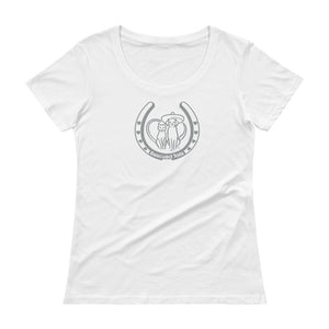 Horse, Dog and Cat Lovers - Ladies' Scoop Neck T-Shirt