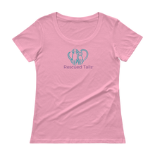Load image into Gallery viewer, Rescued Tails Ladies' Scoopneck T-Shirt