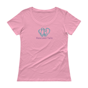 Rescued Tails Ladies' Scoopneck T-Shirt