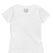 Load image into Gallery viewer, Fresian Horse Ladies' Scoopneck T-Shirt