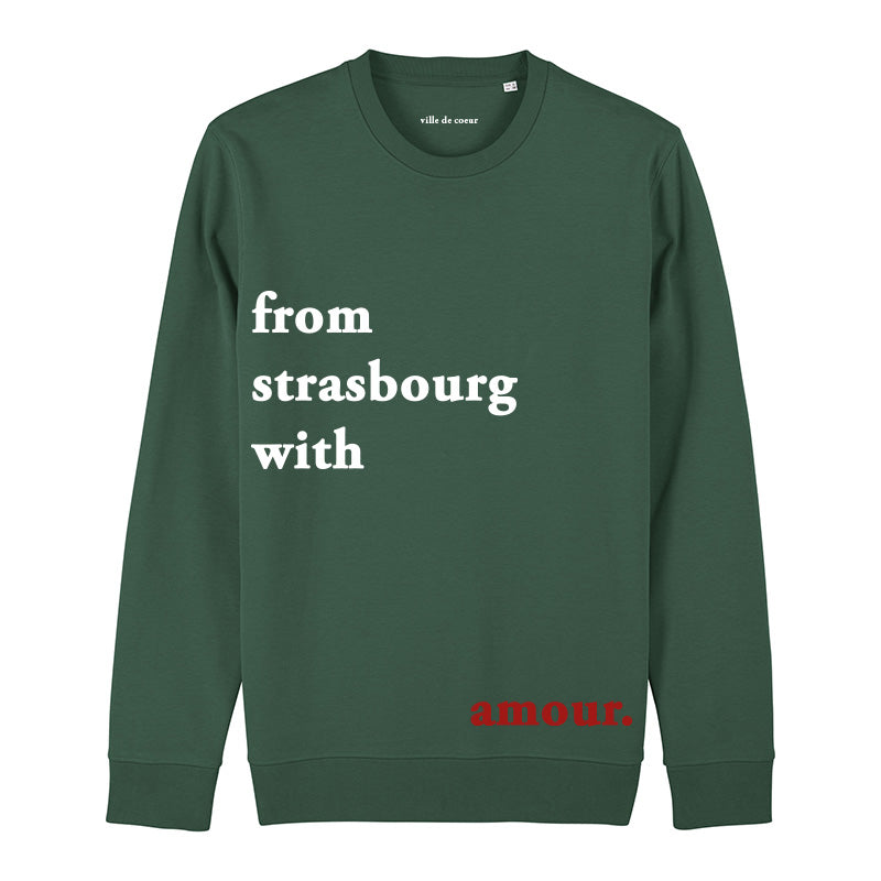 Crewneck from Strasbourg with amour