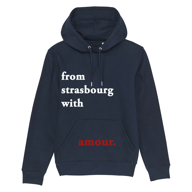 Hoodie From strasbourg with amour bleu marine