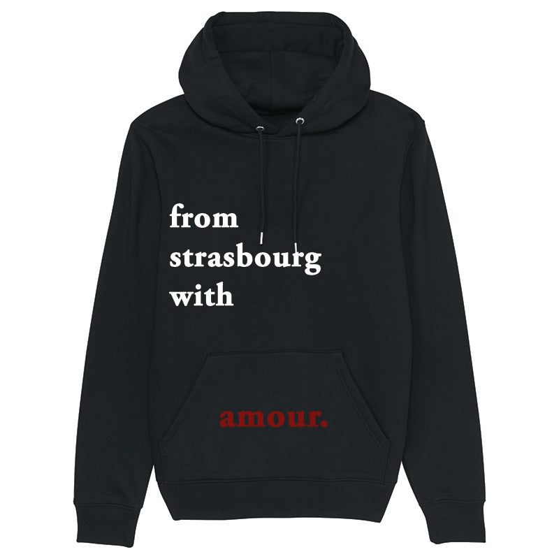 Hoodie From strasbourg with amour noir
