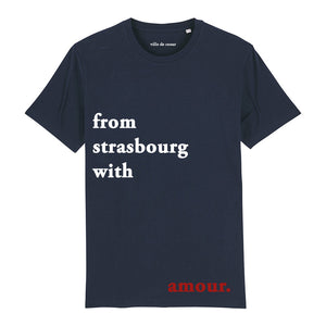 T-shirt bleu marine from strasbourg with amour