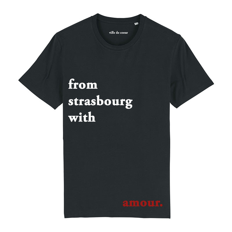 T-shirt noir from strasbourg with amour