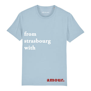 T-shirt bleu ciel from strasbourg with amour