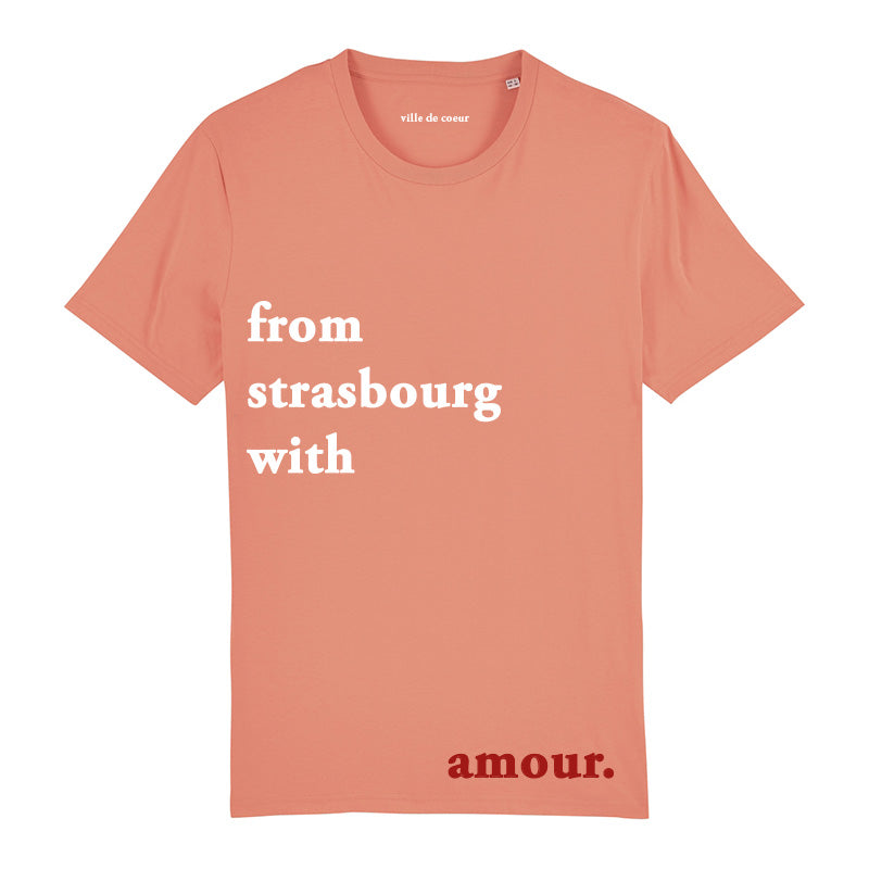 T-shirt sunset orange from strasbourg with amour