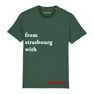 T-shirt vert from strasbourg with amour