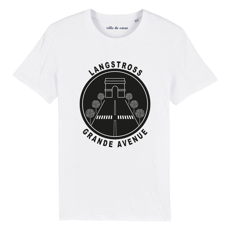 T-shirt blanc langstross grand rue strasbourg