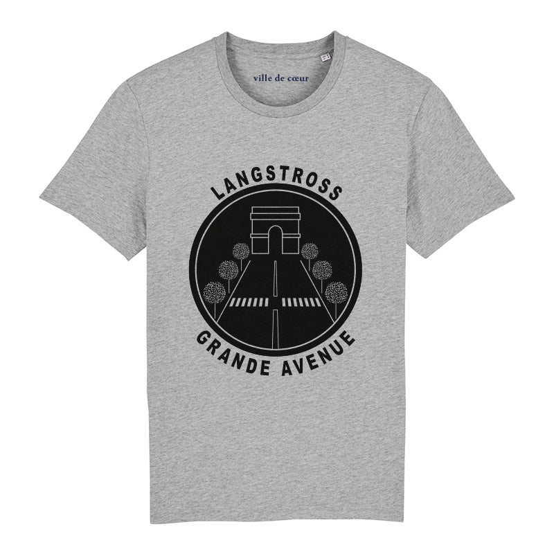 T-shirt gris langstross grand rue strasbourg