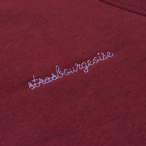 Sweat strasbourgeoise burgundy