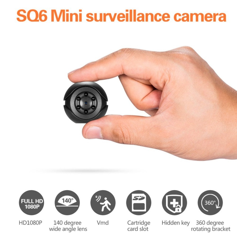 Full HD Mini Spy Camera With Night Vision Sensor Portable Security Camcorder