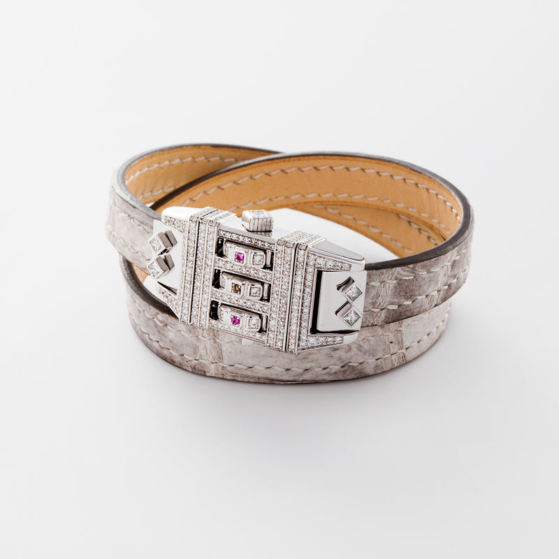 CODE LEATHER WHITE PAVE