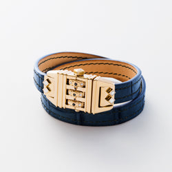 CODE LEATHER NAVY BLUE