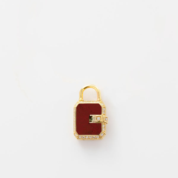 Mini Padlock Paved Red