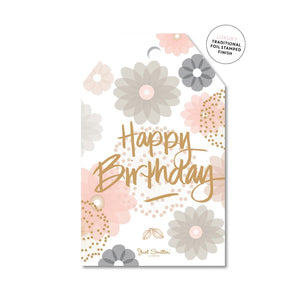 Gift Tag - Floral Birthday