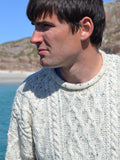 Traditional Aran Pullover - Roll Neck Nep