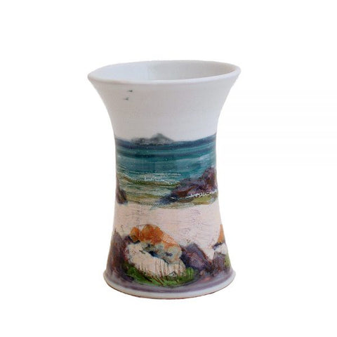 Small Cylinder Vase - Seascape