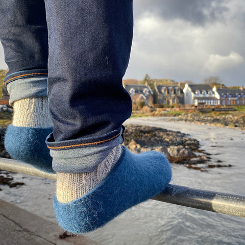 Iona Wool Felted Slippers