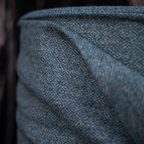 Diamond Twill - Silver/Blue Teal