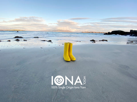 Iona Wool Felted Slippers - Yellow Wellies