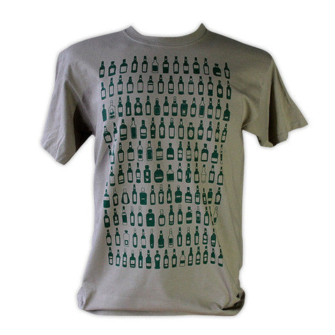 Bottled Whisky T-Shirt - Khaki