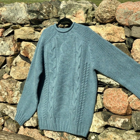 Chunky Roll Neck Sweater - Teal