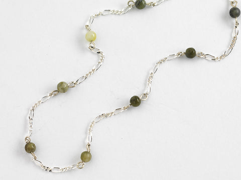 Iona Green Stone Bead Necklace