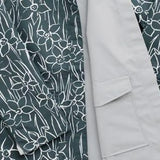 Reversible Raincoat: Drawn Daffodils Nickel