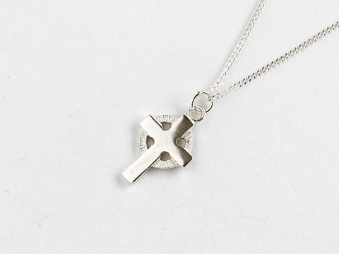 Tiny Celtic Cross Necklace
